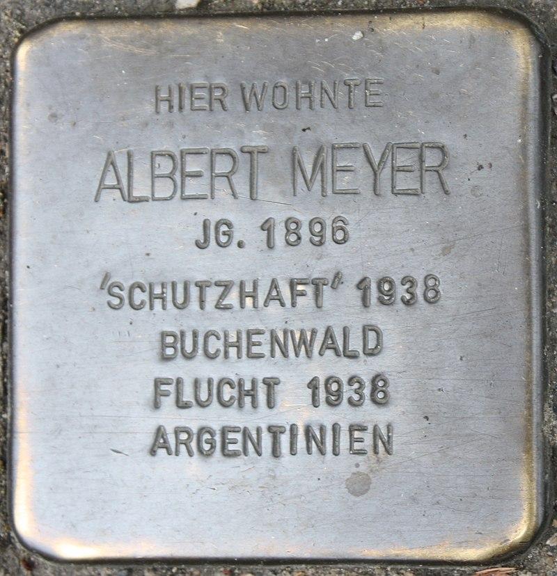 Stolperstein für Albert Meyer
