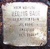 Stolperstein Ebertallee 16 (Hedwig Baur) in Hamburg-Groß Flottbek.JPG