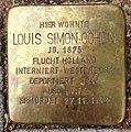 Stolperstein Kleve Pannofenstraße 12 Louis Simon Cohen.jpg