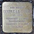 Stolperstein Konstanzer Str 55 (Wilmd) Gertrud Landsberg.jpg