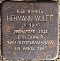 Stumbling block for Hermann Wolff (Biberstrasse 1)