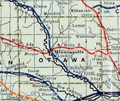 Stouffer's Railroad Map of Kansas 1915-1918 Ottawa County.png