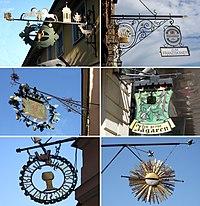 Strallis, Freden, Gröne Jägaren, Franziskaner, skyltar.jpg