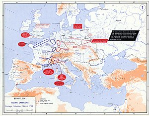 Rhine Campaign of 1796 - Strategic situation in Europe 1796