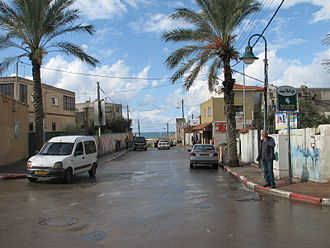 Jisr az-Zarqa - Typical sea-view street in Jisr az-Zarqa