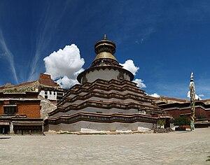 English: The worlds largest tibetan stupa