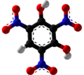 Styphnic acid Ball and Stick.png