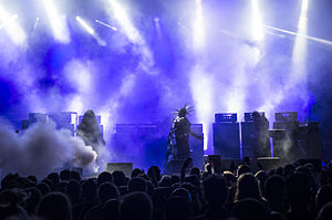 Sunn O))) - Attila wearing a costume, Brutal Assault 2015