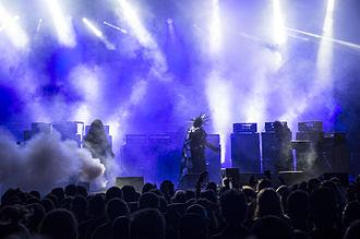 Sunn O))) - Attila wearing a costume, Brutal Assault 2015