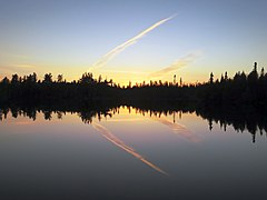 Sunset Contrail Lake.jpg