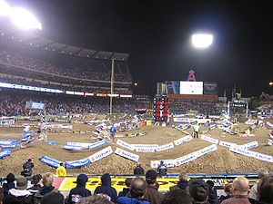 Supercross in Anaheim, CA