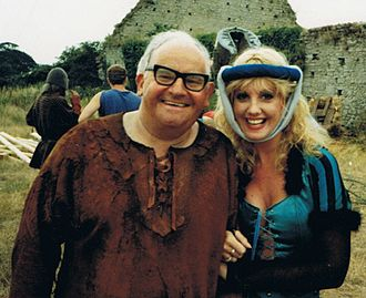 Ronnie Barker - Barker during filming of The Two Ronnies (with Susie Silvey)