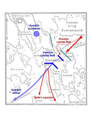 Battle of Svensksund (1789) - First battle of Svensksund