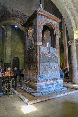 Svetitskhoveli Cathedral - Monument under which the robe of Jesus is said to have been buried