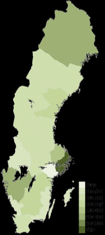 Sweden Wikiwand - Map sweden 2014