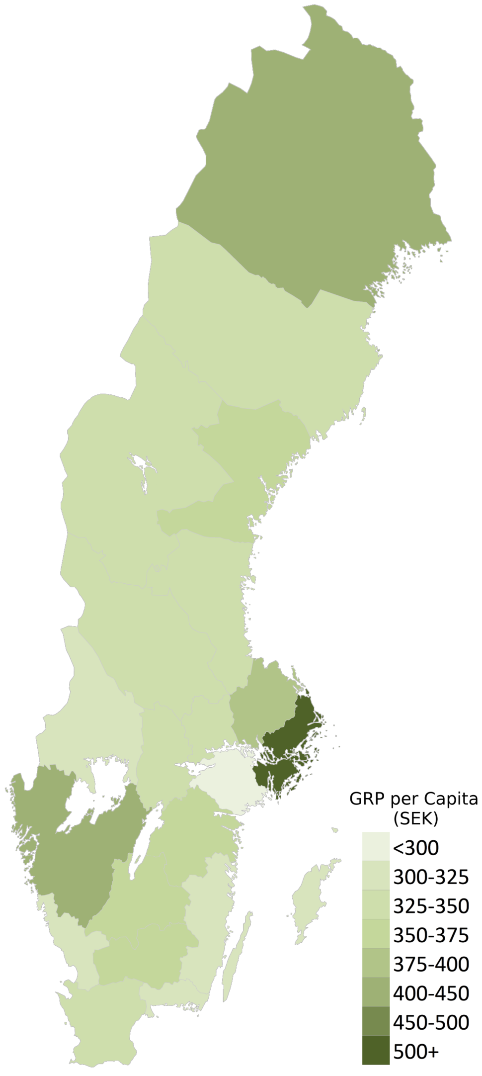 Sweden GRP per Capita (2014)