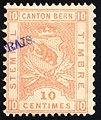 Switzerland Bern 1881 revenue 10c - 23C frais.jpg