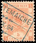 Switzerland Bern 1893 revenue 5c - 51 VII-93.jpg