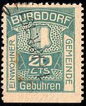 Switzerland Burgdorf 1917 revenue 20c - 3aB.jpg