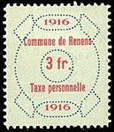 Switzerland Renens 1916 revenue 6 3Fr - 40.jpg