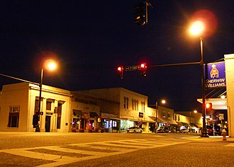 Sylacauga, Alabama - Downtown Sylacauga by night