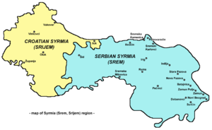 Syrmia - Map of the Syrmia region