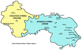 Syrmia geographical region of the Pannonian Plain