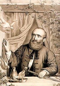Széchenyi István Döblingben (korabeli litográfia)