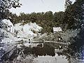 Szovátafürdő, a sós vizű Vörös-tó. Fortepan 86479.jpg