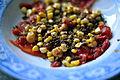 Tørret og røget vandmelon med grillede majs, chipotlemayonnaise og tørret oksekød (9050604334).jpg