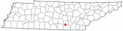 Location of Tracy City, Tennessee