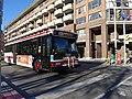 TTC bus 7858 heading east on the Esplanade at Sherbourne, 2014 12 07 (3) (15969973111).jpg