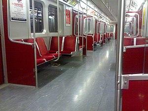 T-series (Toronto subway) - Image: TTC subway Interior