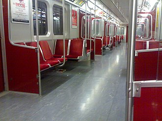 T series (Toronto subway) - Image: TTC subway Interior