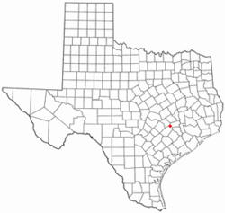 Location of Carmine, Texas