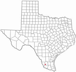 Location of Guerra, Texas
