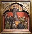 Taddeo di bartolo, apparizione di san francesco durante il sermone di sant'antonio da padova, 1403 ('s-heerenberg, stichting huis bergh) 01.jpg