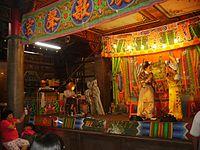 歌仔戲為發源於臺灣的傳統戲曲。