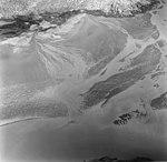 Taku Glacier, tidewater glacier terminus and outwash plain, September 1, 1970 (GLACIERS 6197).jpg