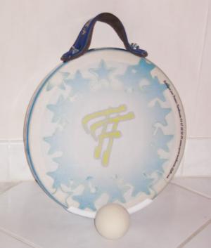 Tamburello - tamburello rounded shape with ball used in open