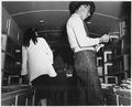 Taos County, New Mexico. Taos County project bookmobile visits Llano San Juan, circulates books, sh . . . - NARA - 521856.tif