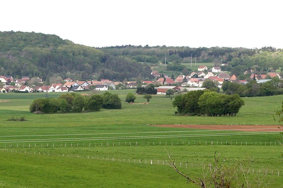 Vue de Tarcenay (Doubs).