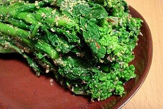 Broccolini - Tenderstem broccoli dressed with sesame sauce