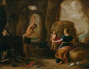 David Teniers the Elder - David Teniers the Elder, Venus Visiting Vulcan's Forge,   The National Museum of Western Art, Tokyo