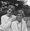 Tennis Nederland tegen Duitsland te Velp sportpark Beekhuizen, Helga Niessen (, Bestanddeelnr 918-1410.jpg