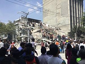 2017 Central Mexico earthquake - Image: Terremoto de Puebla de 2017 Ciudad de México 11