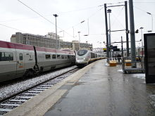 Tgv TMST in arrivo alla gare du nord