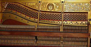 "Grotrian-Steinweg - An early piano branded ""Th. Steinweg Nachf."", meaning ""successor to Theodor Steinweg"""