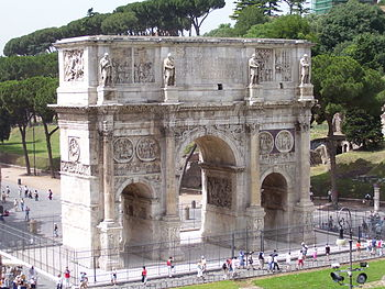 Roman Forum Near the Colosseum is the Arch of ...