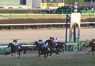 Deep Impact (horse) - Deep Impact was defeated by Heart's Cry in the 2005 Arima Kinen, suffering his first of two losses (the other was a 3rd place finish in the 2006 Prix de l'Arc de Triomphe, but was later disqualified to last place due to a positive drug test.)